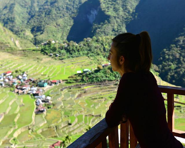 Vistas de los arrozales de Batad desde la Ancient House, el lugar donde dormíamos nosotros