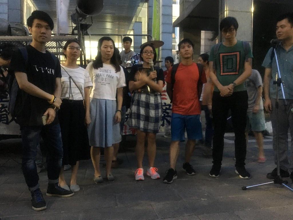 來自香港的聲援者。(攝影:陳逸婷)