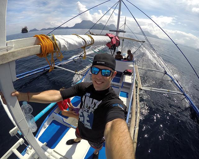 En una bangka, una barca tradicional de filipinas