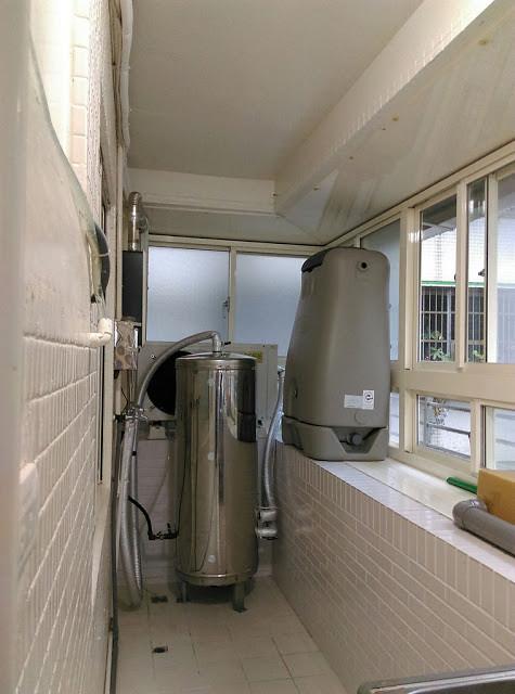熱泵熱水器與水撲滿,住宅內會需要有空間可以存放。