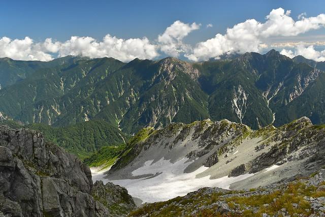 立山から眺める後立山連峰