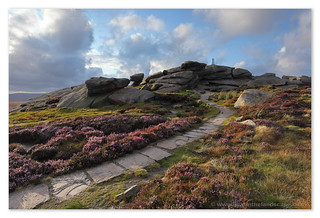 Leading to the light, Back Tor, Derwent Edge | by Hadrian Frankland