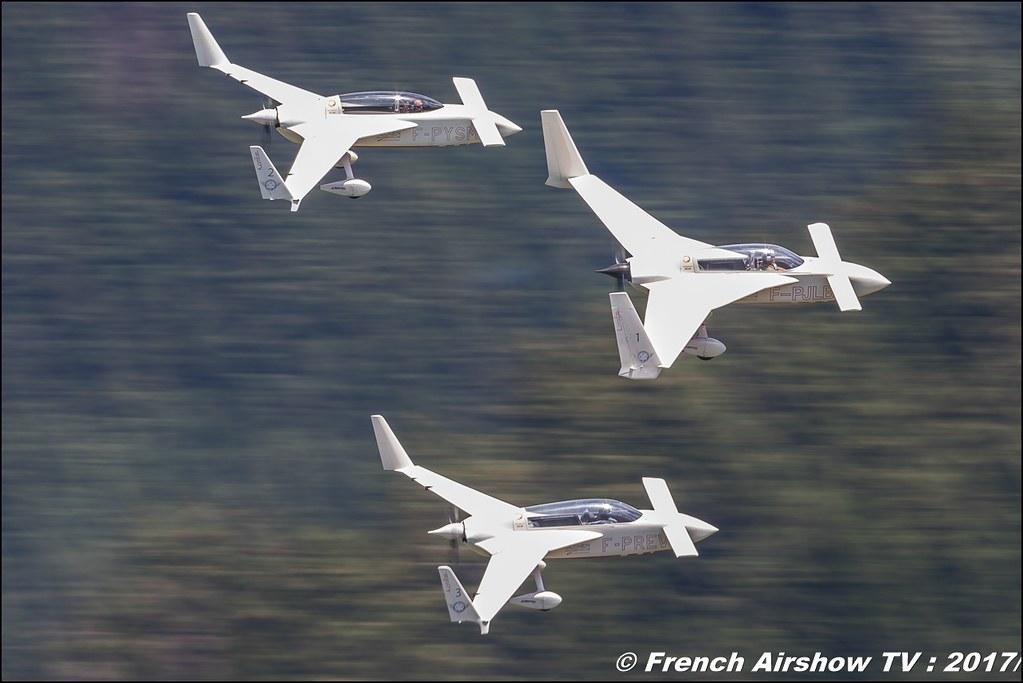 Patrouille REVA, deux Acroez un Long-Eze 50ans d'Aviation Megeve 2017 - altiport de Megève , Haute-Savoie, Auvergne-Rhône-Alpes , Meeting Aerien 2017