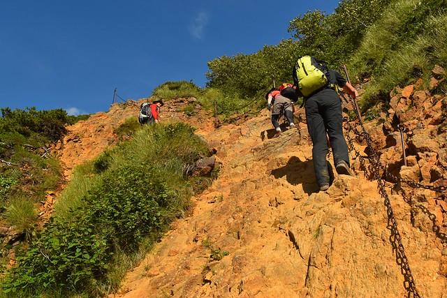八ヶ岳登山 地蔵尾根の鎖場