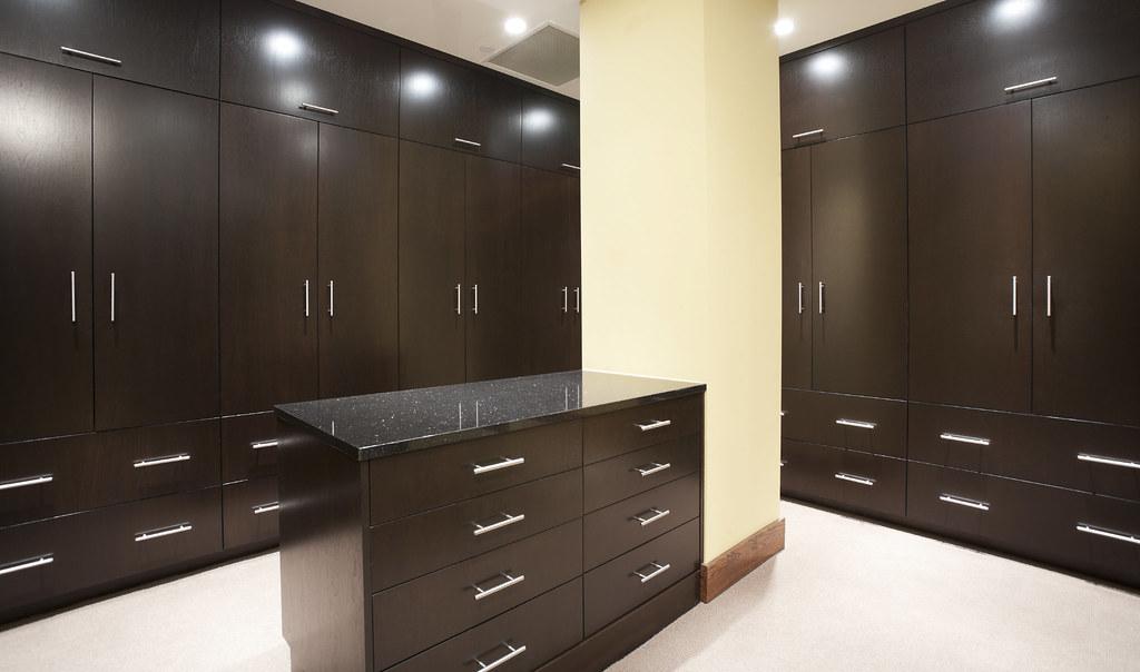 . Modern master bedroom closet with dark stain    Modern large    Flickr