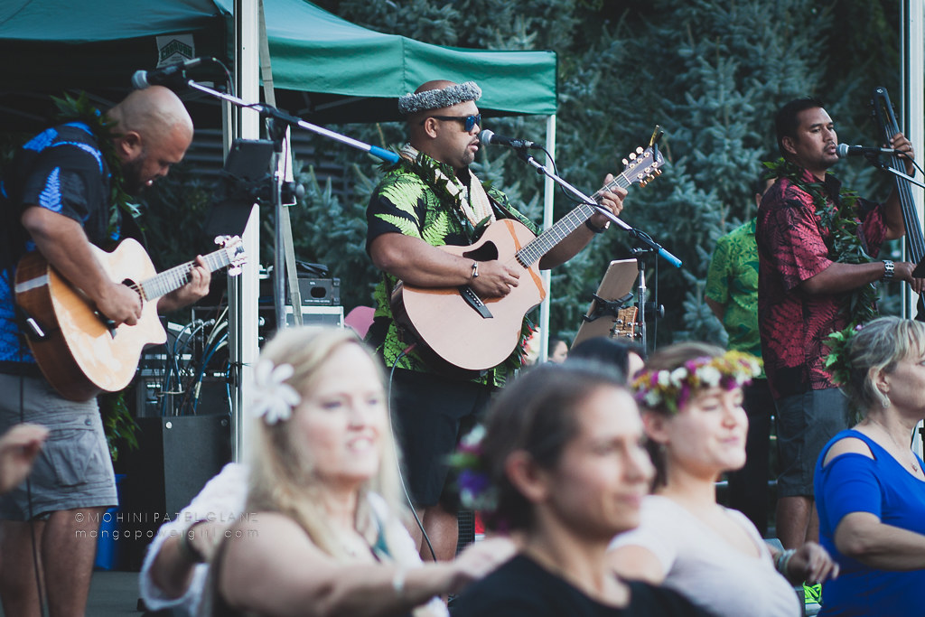 kuana torres kahele band at 2017 live aloha hawaiian cultural festival seattle