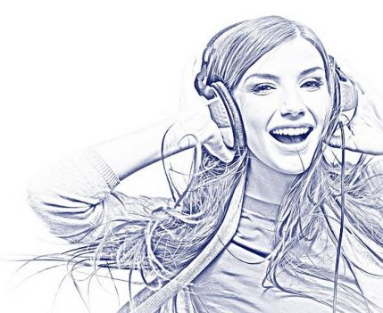 Clean Sketch (Clean Sketch) – action sketches in Photoshop