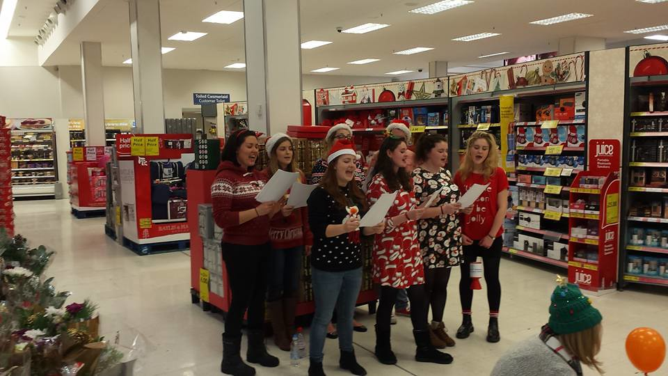 Tesco Carol Singing