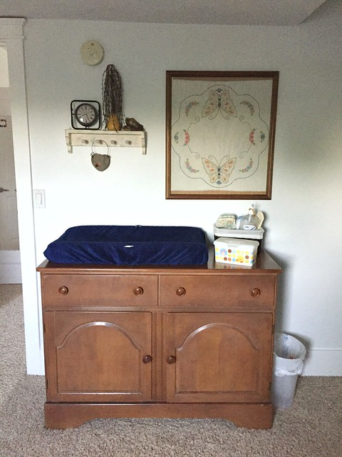 antique dresser and changing table