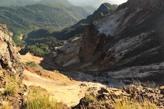 八ヶ岳登山 硫黄岳の火口