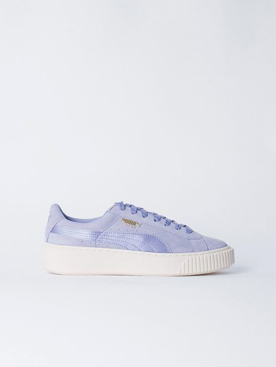 purchase cheap afcb2 11a9f Women's Sneakers : Puma Suede Platform Satin Purple... | Flickr