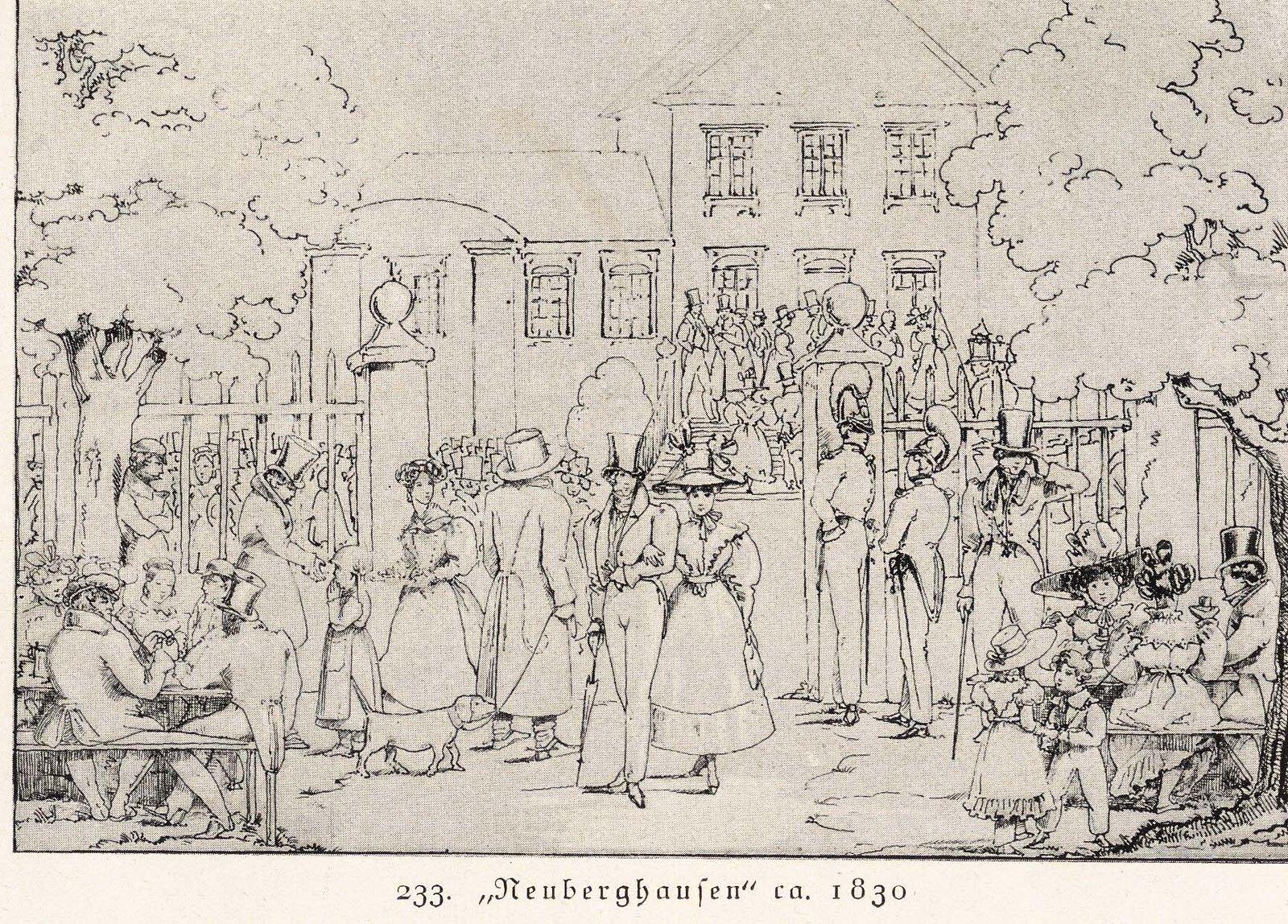 Neuberghausen, Lithorgraphie 1830 via Literaturportal Bayern