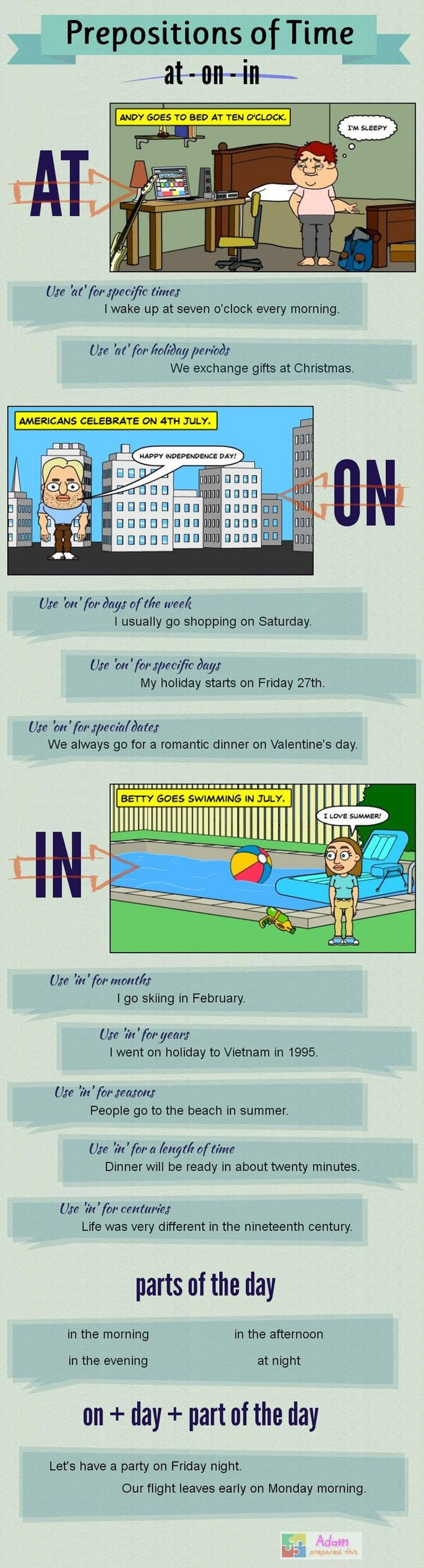 Prepositions of Time – AT, IN, ON (With Examples) 3