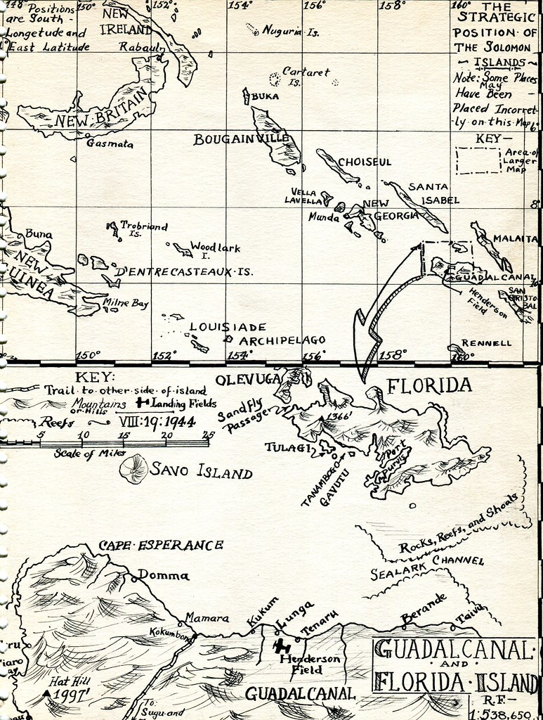 Florida Islands Map.Map Of Guadalcanal And Florida Island Circa 1942 Map Of Flickr