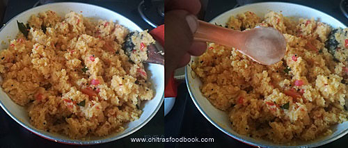Tomato rava upma recipe