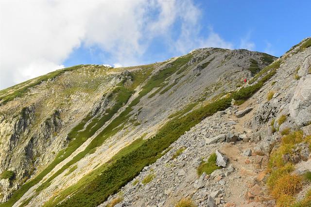 別山の登り坂