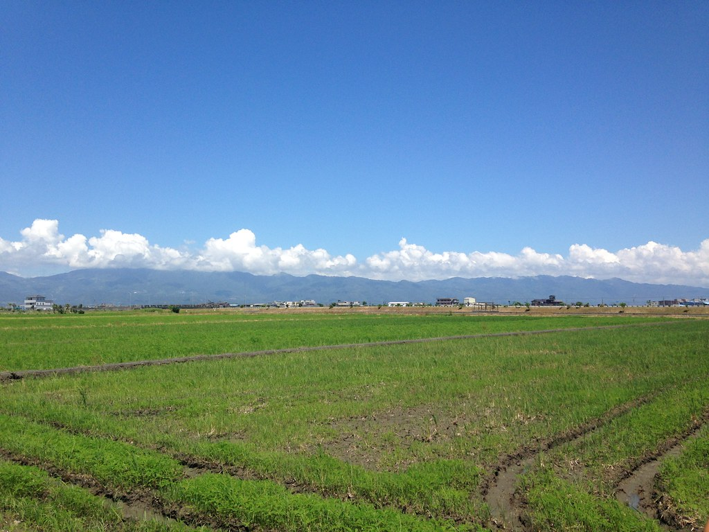 雪山山系與蘭陽溪口的新南地區。攝影:廖靜蕙
