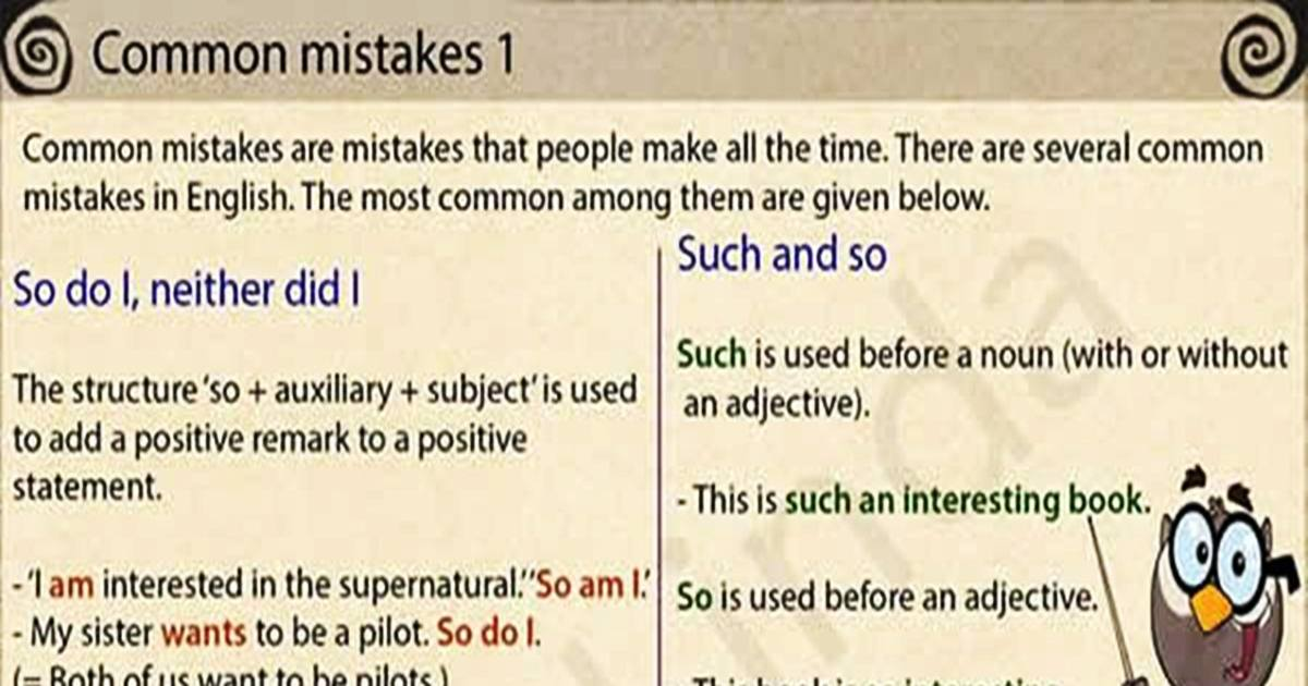 Common Mistakes in English Grammar 5