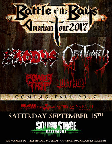 Exodus & Obituary at Baltimore Soundstage