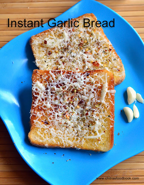 Easy garlic bread on tawa