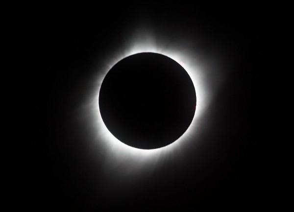跨越近百年重現的全美日全蝕奇景,成為近來的熱門新聞。(圖片來源:法新社)
