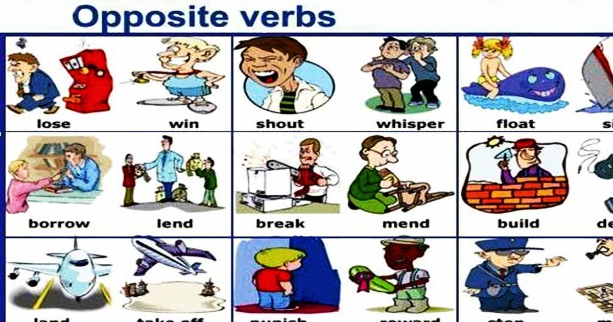 Opposite Verbs in English 5