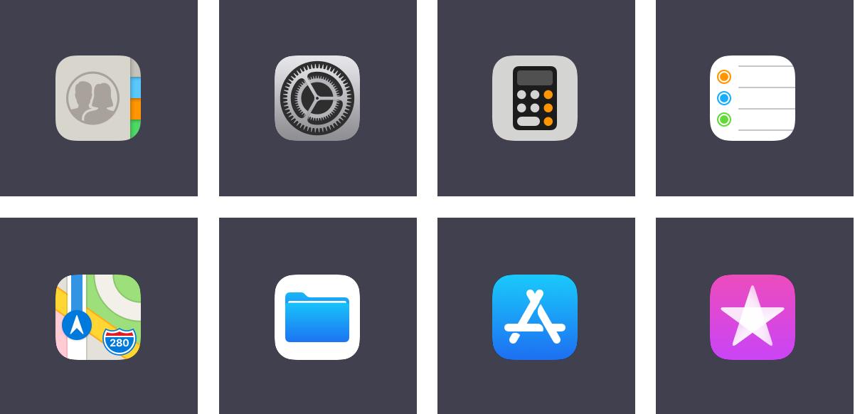 iOS 11 app icons