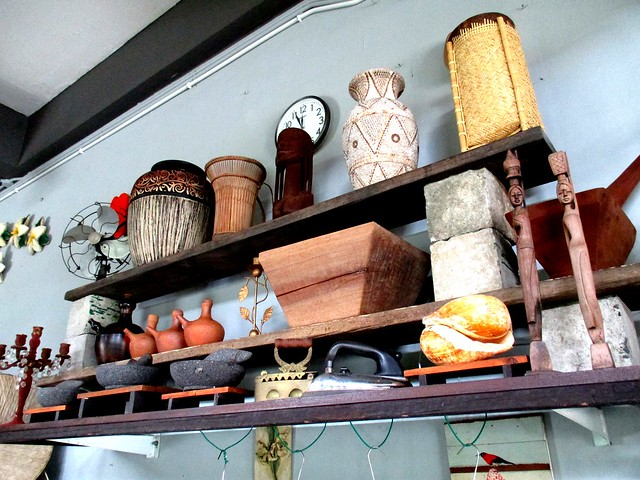 Payung Cafe shelves