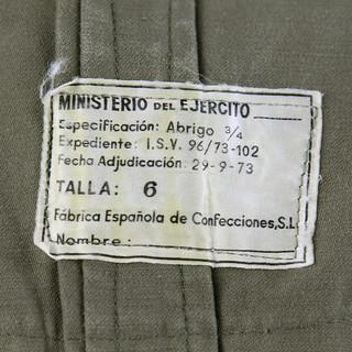 Trench Militare Spagnolo Etichetta