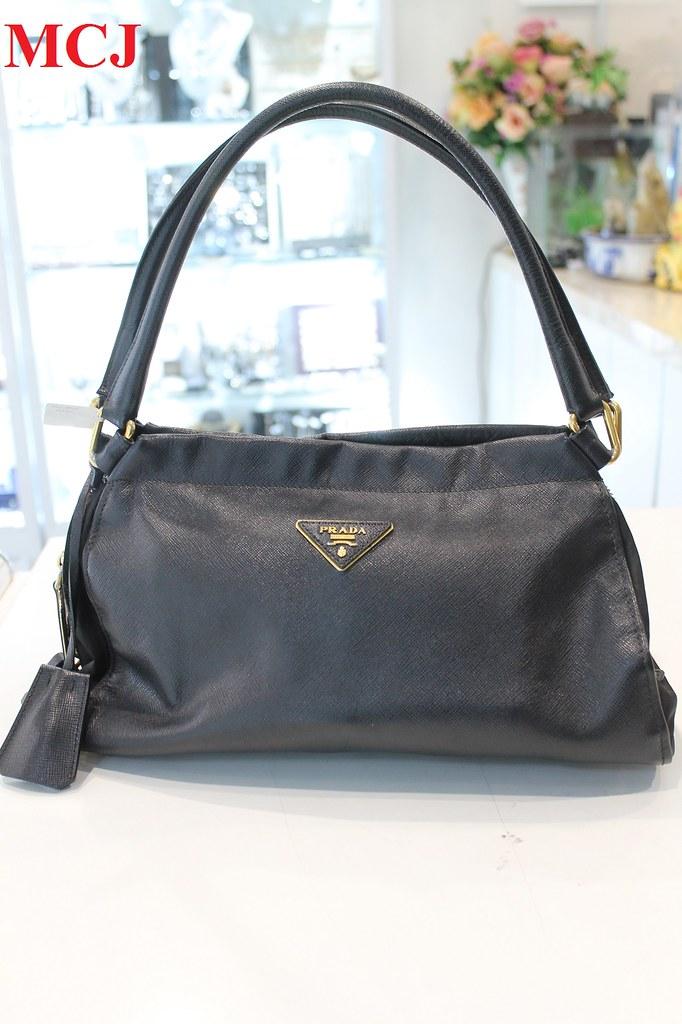 298701d4319522 Details about 'Pre-owned' Prada Saffiano Leather Handbag. '