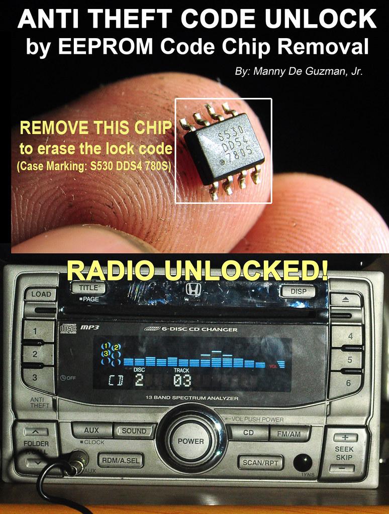 How to unlock the radio