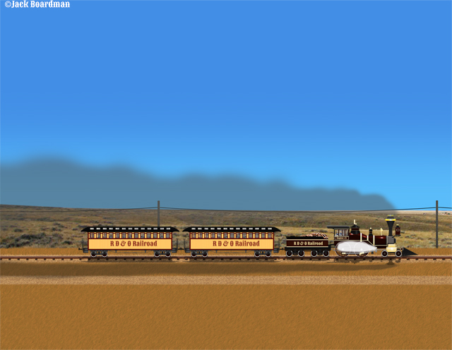 Beauregard's Train in South Dakota ©Jack Boardman