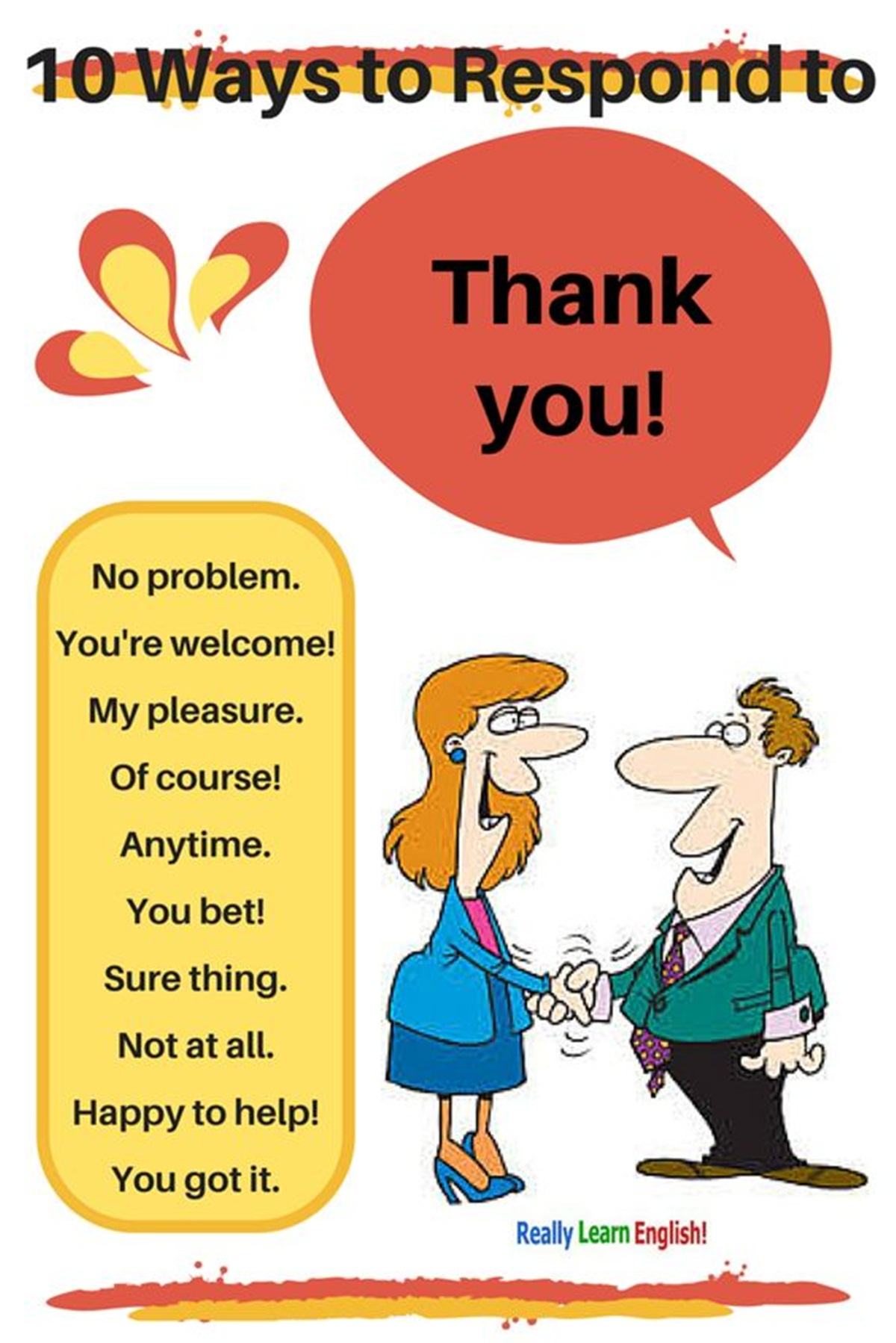 Ten Ways to Respond to THANK YOU in English 3