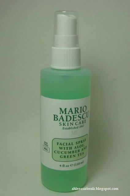 Ahleessa 4 Realz Mario Badescu Facial Spray With Aloe