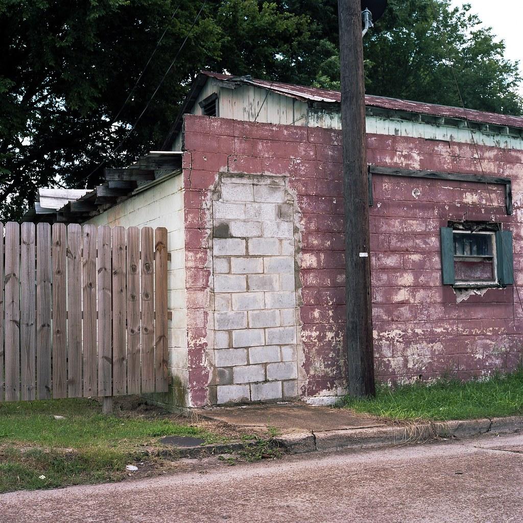 Yazoo City cinder block doorway   by ADMurr