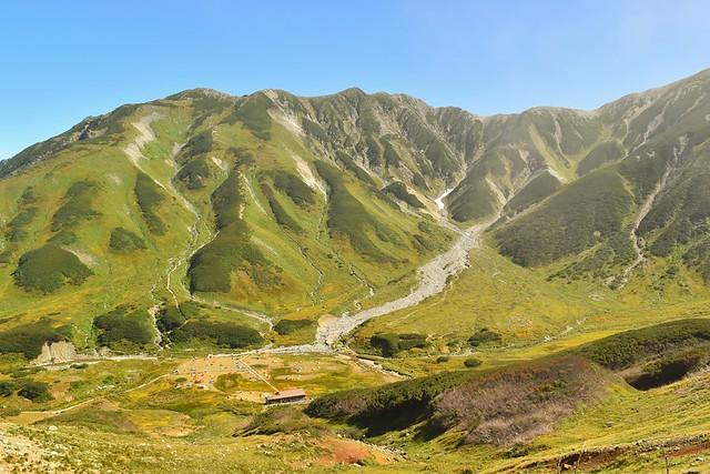 立山連峰と雷鳥沢キャンプ場