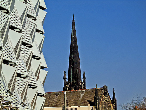 University area - Parking garage, church 01 | by worldtravelimages.net
