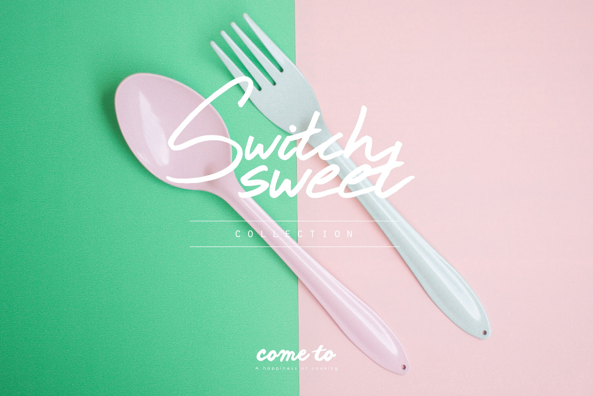 Pink Spoon+Green Mint Fork : Switch 🍭 Sweet Collection - Designer ...