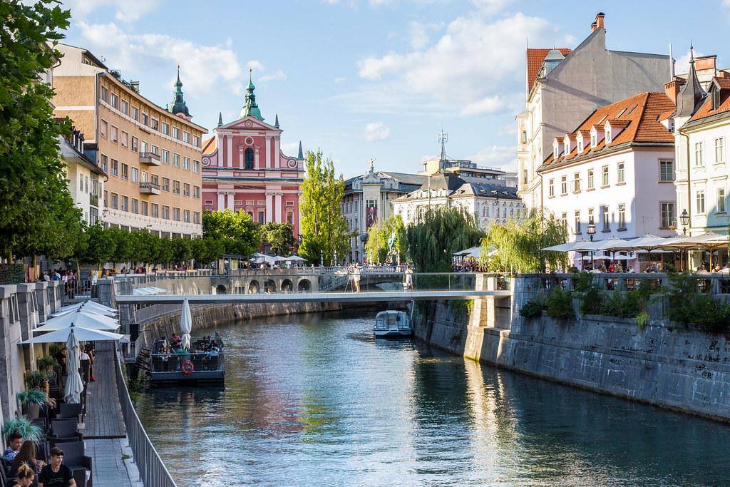 Terms Of Use >> View of Ljubljana Center with Ljubljanica River, Ljubljana… | Flickr