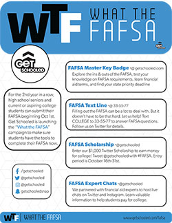 What the FAFSA Campaign One Pager