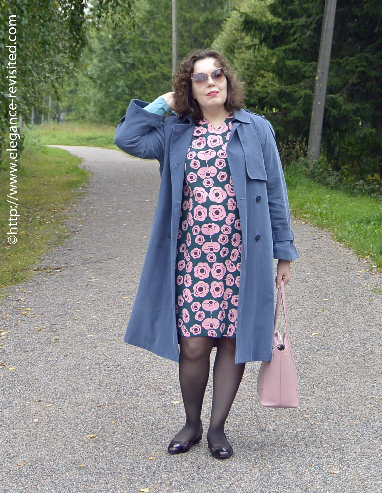 casual dress and trench
