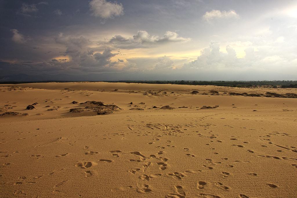 Cồn cát Quang Phú vào xế chiều