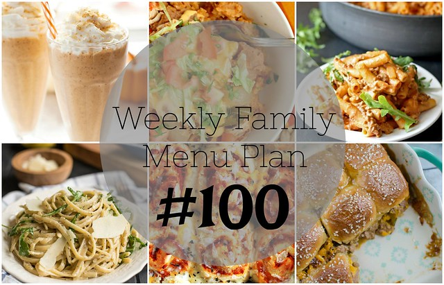 Weekly Family Menu Plan - Five weeknight dinners, a weekend breakfast, and a yummy dessert!