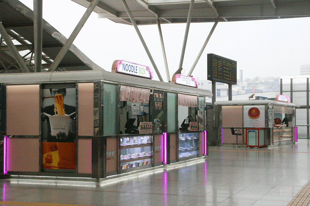 Food booths at KTX seoul station