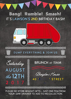 lawson birthday invitation | by natalie @ our old southern house