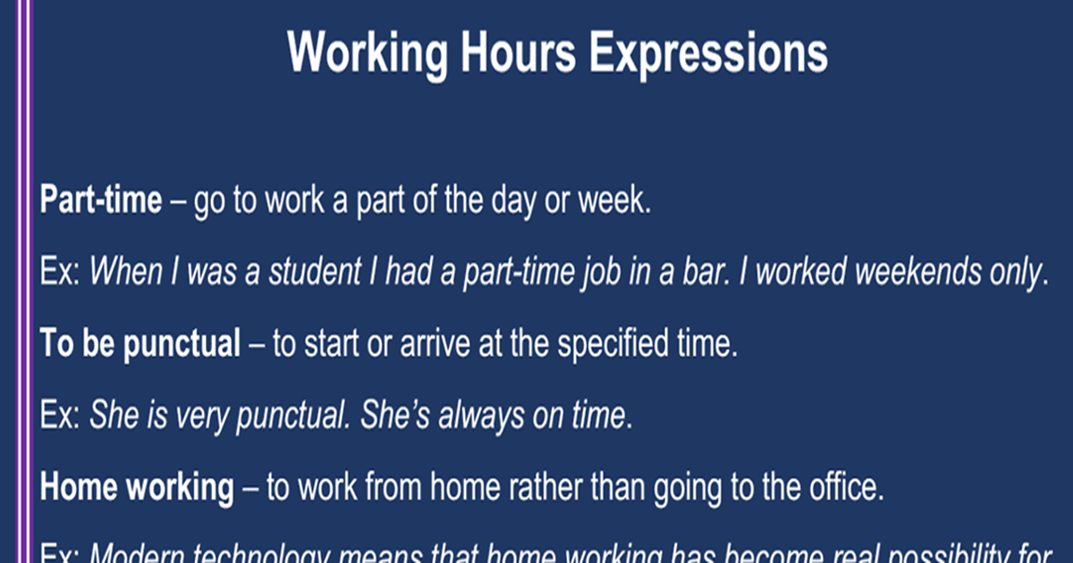 Working Hours Expressions 5