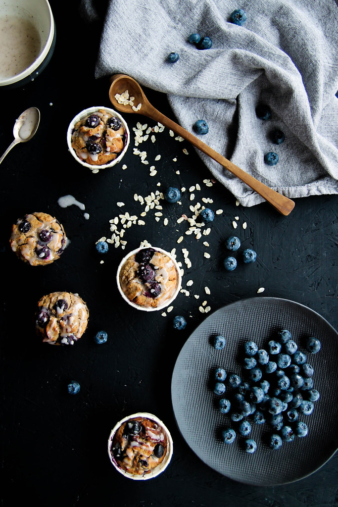 Muffins myrtilles recette