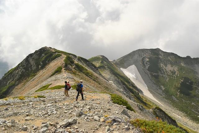 別山~剱御前小舎の稜線
