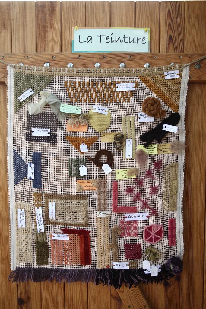 范斯小鎮編織協會在現場有編織技法導覽與工作坊教學