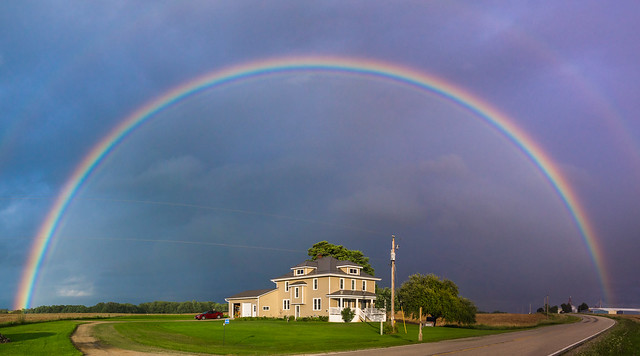 Rainbow, Rural, House, Kewaunee, WI